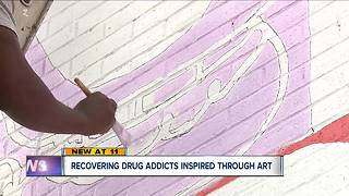 Recovering drug addicts inspired through art - Video