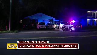 Two active police scenes as police investigate a shooting in Clearwater - Video