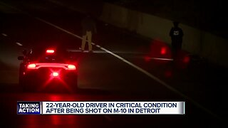 22-year-old in critical condition after shooting on M-10 overnight