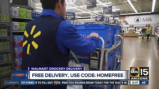 Walmart offering free grocery delivery