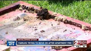 Families trying to move on after apartment fire