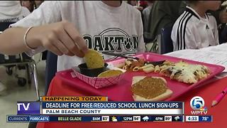 Deadline for free/reduced school lunch registration - Video
