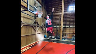 Serious Dunk With Tennis Ball