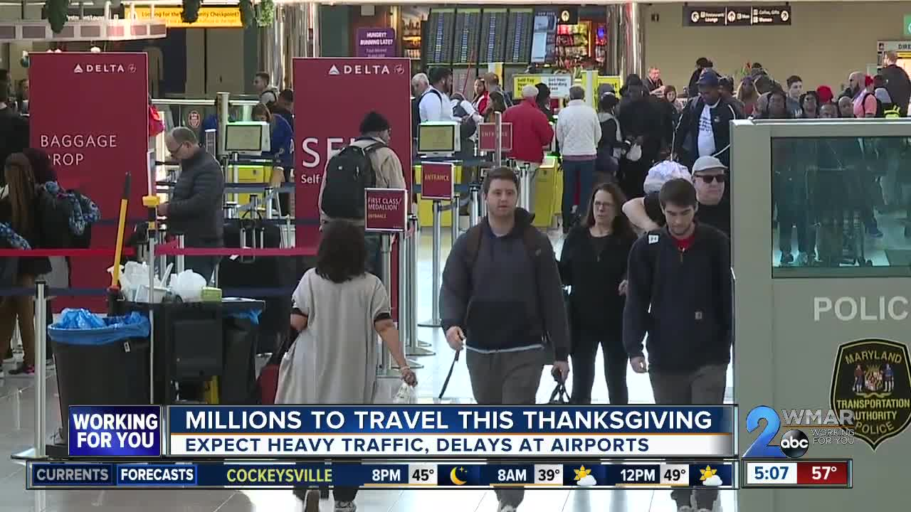 Millions to travel this Thanksgiving, heavy traffic expected