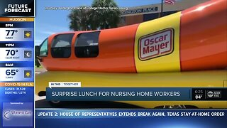 Surprise lunch for nursing home workers