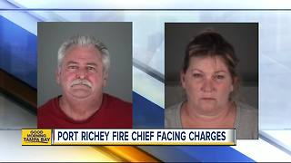 Port Richey fire chief, wife arrested after motorcycle crash & altercation - Video