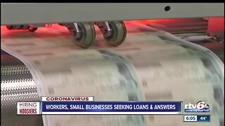 Workers, small businesses seeking loans and answers