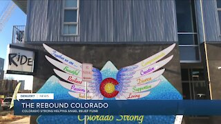 Helping restaurant workers with Colorado Strong clings