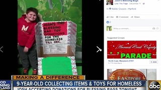 9-year-old Dundalk boy collecting donations for the homeless - Video