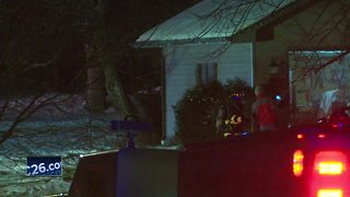 Two people are without a home Tuesday morning after a fire in Green Bay. - Video