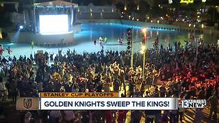 Golden Knights fans celebrate series win over Kings - Video