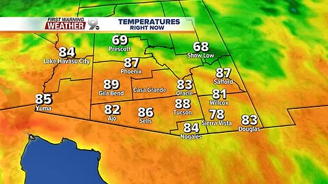 Temperatures dipping to normal