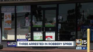 Phoenix police: Armed robbery suspects arrested - Video