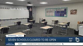 Seven schools cleared to reopen