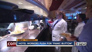 Hotel and casino workers push for panic buttons - Video