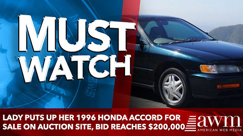 Lady Puts Up Her 1996 Honda Accord For Sale On Auction Site, Bid Reaches $200,000