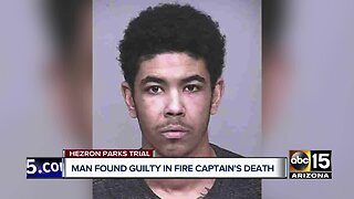 Man found guilty in fire captain's death