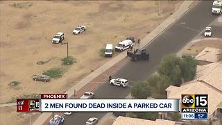 Police identify men found dead inside car in west Phoenix - Video