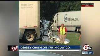 One person killed in I-70 crash in Clay County - Video