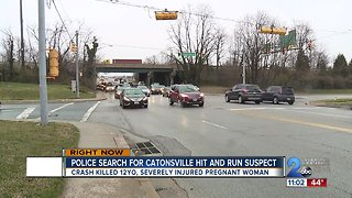 Suspect wanted after deadly hit and run crash in Catonsville