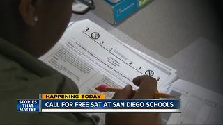 Call for free SAT at San Diego High Schools - Video