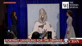 Watch: Michelle Obama Unveils Official Portrait That Looks Nothing Like Michelle Obama - Video