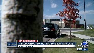 Castle Rock Police investigating 'unusual' car burglaries - Video