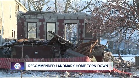 Recommended landmark home in Buffalo torn down