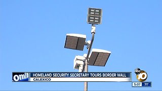 Homeland Security Secretary tours border wall