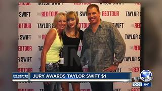 Jury finds Taylor Swift was assaulted and battered by former Denver DJ, awards her $1 - Video