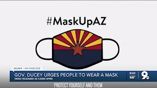 Gov. Ducey urges mask wearing