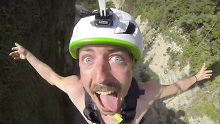 Hilarious Epic Reaction on Adrenaline Rope Swing  - Video