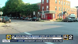 South Baltimore residents stepping up to curb crime - Video