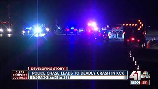 KCK police chase ends in fatal wreck