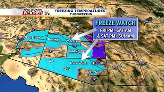 FORECAST: Freezing temperatures this weekend
