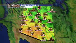 Rain, snow chances in Arizona this weekend - Video