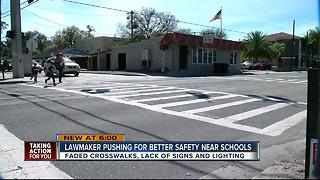 New bill could force state to fix crosswalks near Florida schools - Video
