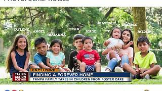 Tampa family adopts 9 children to keep siblings together - Video