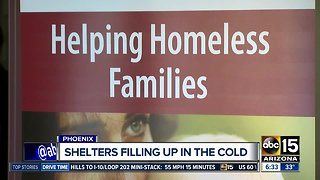 Shelters at capacity amid freezing temperatures