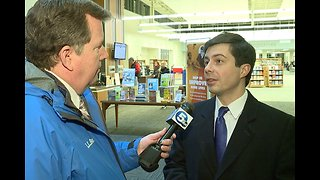 Democratic Presidential hopeful Pete Buttigieg visits Parma