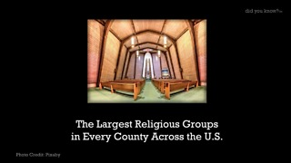 The Largest Religious Groups in Every County Across the U.S. - Video