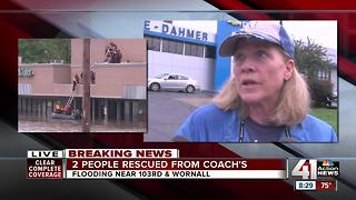 'It happened so quickly' Co-owner of south KC restaurant speaks after she was rescued from flooded restaurant - Video