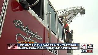 Independence leaders learn firefighting first hand - Video