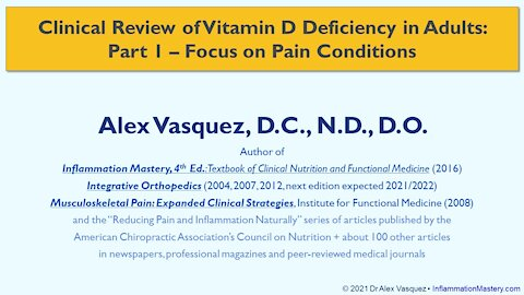 SUBSCRIBE: #VitaminD Deficiency Part 1 of 4 #Pain #ChronicPain #BackPain Diagnosis Treatment