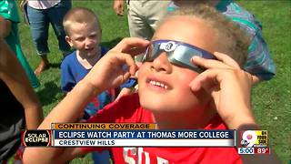 Eclipse watch party at Thomas More College - Video