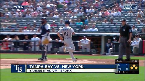 New York Yankees load bases in 9th inning, but Rays rookie pitcher Adam Kolarek escapes for 3-1 win