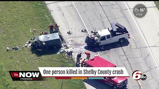 One person killed in crash involving five vehicles in Shelby County - Video