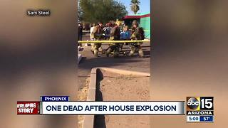 Explosion leaves one person dead in Phoenix