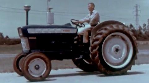 Making and testing of the Ford tractor (1960s)