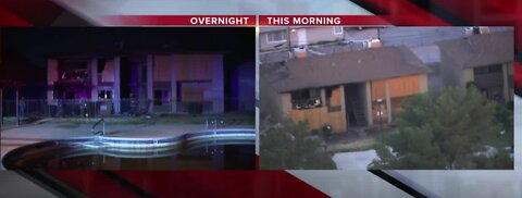 Apartment fire near Mountain Vista, Vegas Valley